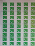 Pakistan Country Flag Stickers (50 Per Sheet).